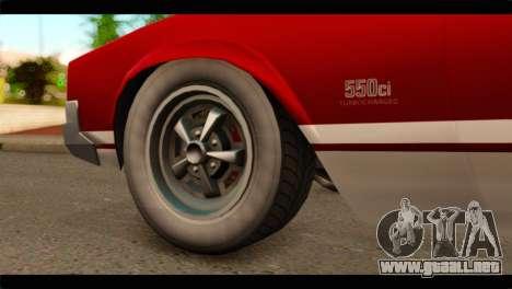 GTA 5 Declasse Sabre GT Turbo para GTA San Andreas vista posterior izquierda