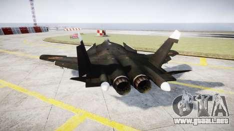 El Su-47 Berkut para GTA 4 Vista posterior izquierda