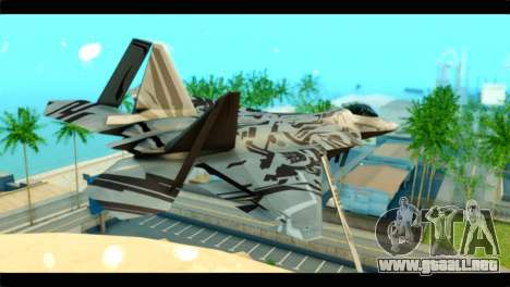 F-22 Raptor Starscream para GTA San Andreas left