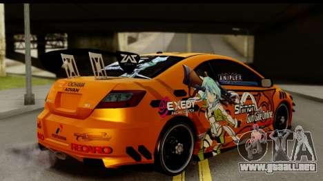Honda Civic SI Juiced Tuned Shinon Itasha para GTA San Andreas left