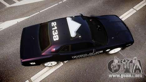 Dodge Challenger SRT8 Police [ELS] para GTA 4 visión correcta
