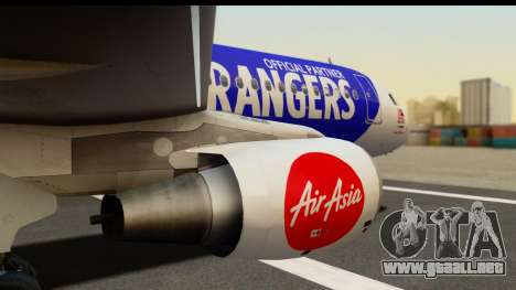 Airbus A320-200 AirAsia Queens Park Rangers para la visión correcta GTA San Andreas