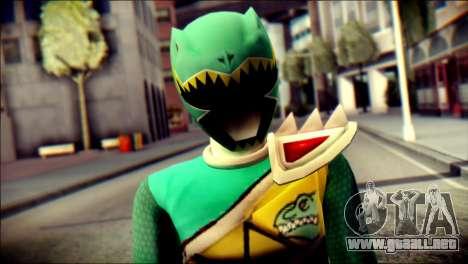 Power Rangers Kyoryu Green Skin para GTA San Andreas tercera pantalla