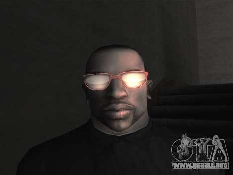 Las gafas nuevas para CJ para GTA San Andreas novena de pantalla