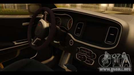 Dodge Charger RT 2015 Hestia para la visión correcta GTA San Andreas