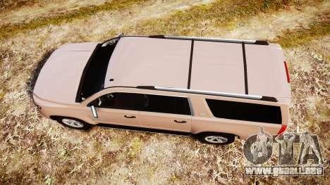 Chevrolet Suburban LTZ 2015 para GTA 4 visión correcta