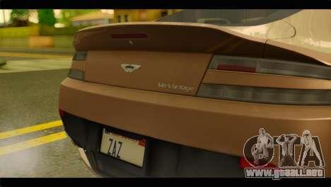 Aston Martin V12 Vantage para la visión correcta GTA San Andreas