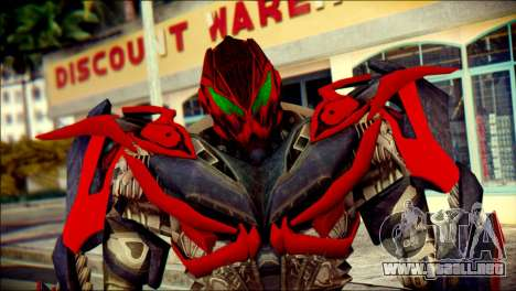 Stinger Skin from Transformers para GTA San Andreas tercera pantalla