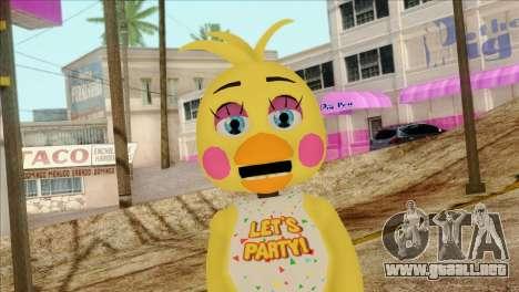 Toy Chica from Five Nights at Freddy 2 para GTA San Andreas tercera pantalla