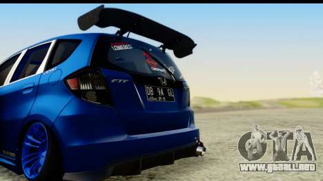 Honda Fit 2009 JDM Modification para la visión correcta GTA San Andreas