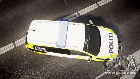 Volkswagen Passat B7 Police 2015 [ELS] marked para GTA 4 visión correcta