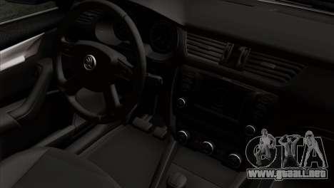 Skoda Octavia Police para la visión correcta GTA San Andreas