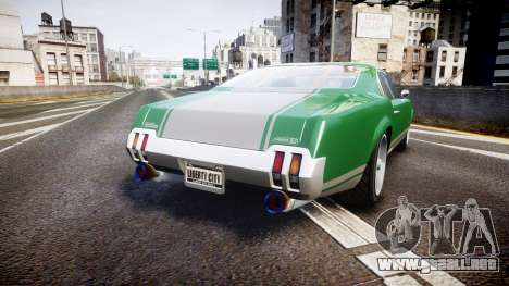 Declasse Sabre GT SS para GTA 4 Vista posterior izquierda