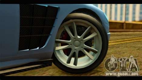 GTA 5 Ocelot F620 IVF para GTA San Andreas vista posterior izquierda