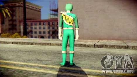 Power Rangers Kyoryu Green Skin para GTA San Andreas segunda pantalla