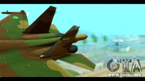 Sukhoi SU-34 IRIAF para GTA San Andreas vista posterior izquierda
