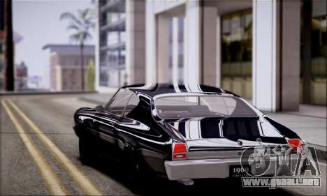 Chevrolet Chevelle SS para GTA San Andreas vista posterior izquierda