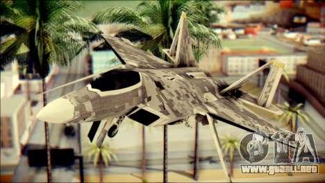 F-22 Raptor Digital Camo para GTA San Andreas vista hacia atrás