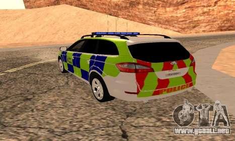 Ford Mondeo De La Policía De Kent para GTA San Andreas left