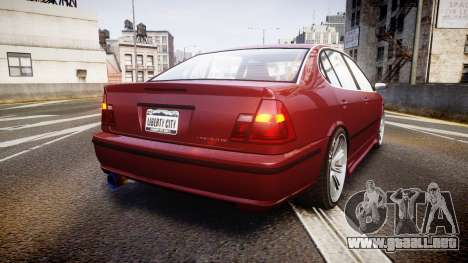 Emperor Lokus LS 350 Elegance para GTA 4 Vista posterior izquierda