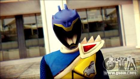 Power Rangers Kyoryu Blue Skin para GTA San Andreas tercera pantalla
