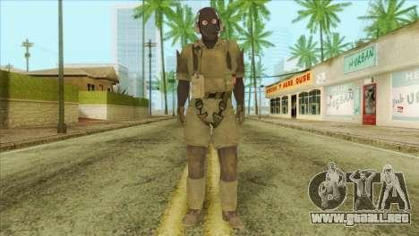 Metal Gear Solid 5: Ground Zeroes MSF v1 para GTA San Andreas