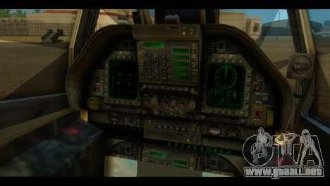 FA-18 Jolly Roger Black para GTA San Andreas vista hacia atrás