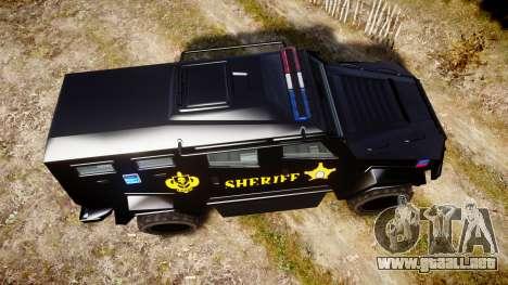 GTA V HVY Insurgent Pick-Up SWAT [ELS] para GTA 4 visión correcta