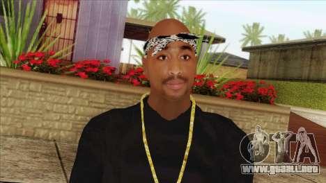 Tupac Shakur Skin v2 para GTA San Andreas tercera pantalla