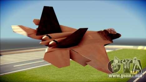 F-22 Raptor G1 Starscream para GTA San Andreas left