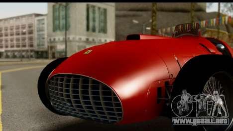 Ferrari 375 F1 para GTA San Andreas vista posterior izquierda