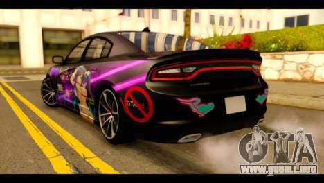 Dodge Charger RT 2015 Hestia para GTA San Andreas left