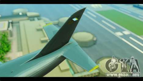 GTA 5 Besra para GTA San Andreas vista posterior izquierda