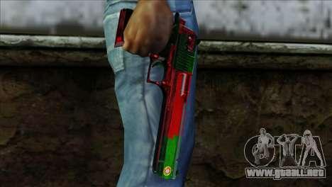 Desert Eagle Portugal para GTA San Andreas tercera pantalla