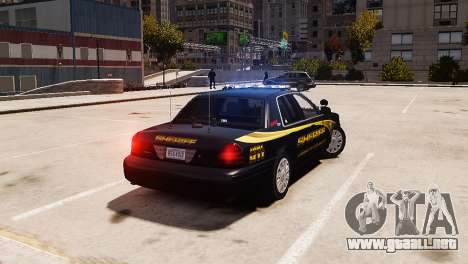 Ford Crown Victoria Sheriff LC [ELS] para GTA 4 left