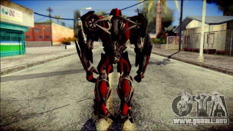 Stinger Skin from Transformers para GTA San Andreas segunda pantalla