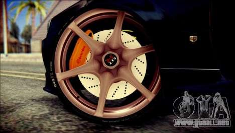 Nissan Skyline GTR V Spec II v2 para GTA San Andreas vista posterior izquierda
