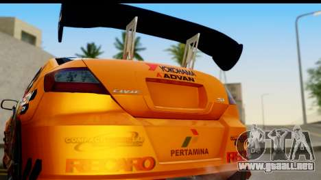 Honda Civic SI Juiced Tuned Shinon Itasha para la visión correcta GTA San Andreas