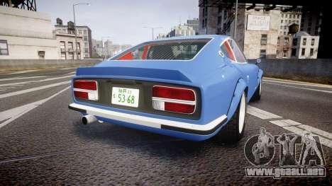 Nissan Fairlady Devil Z para GTA 4 Vista posterior izquierda