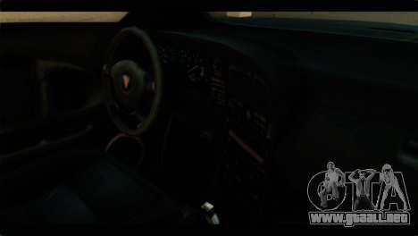 GTA 4 Habanero para GTA San Andreas vista posterior izquierda