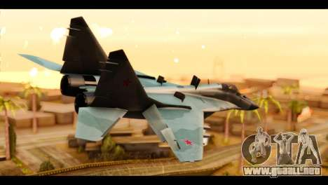 MIG-29 Fulcrum para GTA San Andreas left