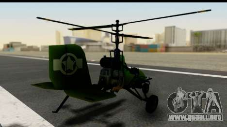 Gyrocopter para GTA San Andreas left