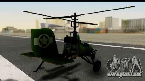 Gyrocopter para GTA San Andreas left