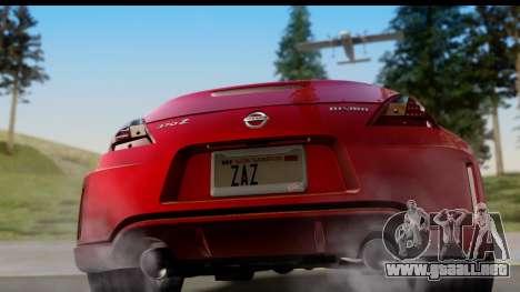 Nissan 370Z Nismo 2010 para la visión correcta GTA San Andreas