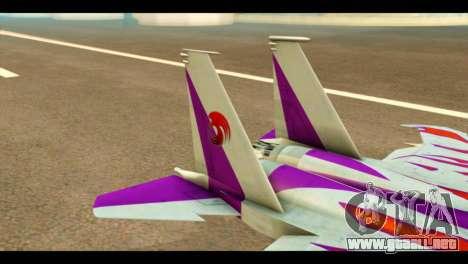 F-15C Air Combat para GTA San Andreas vista posterior izquierda