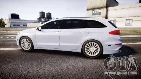 Ford Fusion Estate 2014 Unmarked Police [ELS] para GTA 4 left