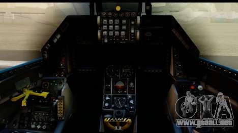 F-16C USAF 111th FS 90th Anniversary para visión interna GTA San Andreas
