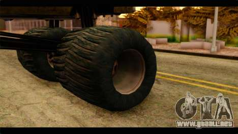 Monster Esperanto para GTA San Andreas vista posterior izquierda