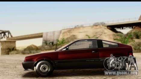 GTA 5 Dinka Blista Compact para GTA San Andreas vista hacia atrás