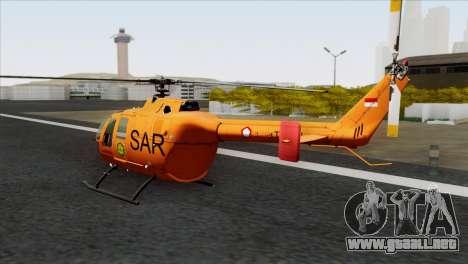 MBB BO-105 Basarnas para GTA San Andreas left
